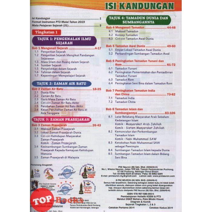 Topbooks Pembelajaran Holistik Kssm Pt3 Sejarah Tingkatan 1 2 3 Pni Neuron Shopee Malaysia