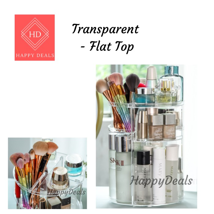 Happy Deals Rotatable Cosmetic Storage Organisers Makeup box 360 Degree Rotate Makeup Storage Box / Organizer 可旋转化妆笔收纳盒