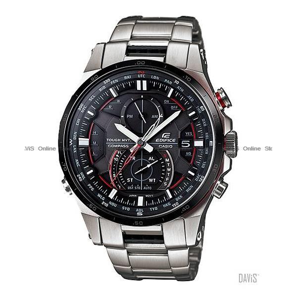 d075e194509a CASIO ERA-201BK-1AV EDIFICE ana-digi thermo SS bracelet black  Original