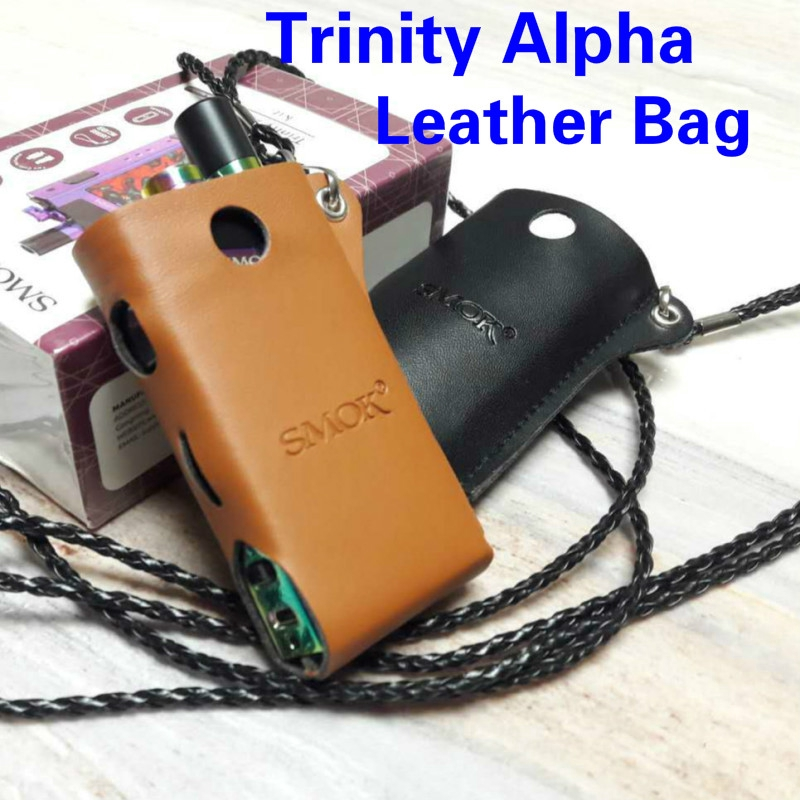SMOK Trinity Alpha Leather case cover bag with Lanyard Accessories Anti-lost