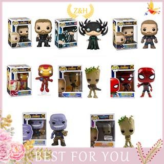 Funko POP Infinity War Iron Man Spiderman Thanos widow