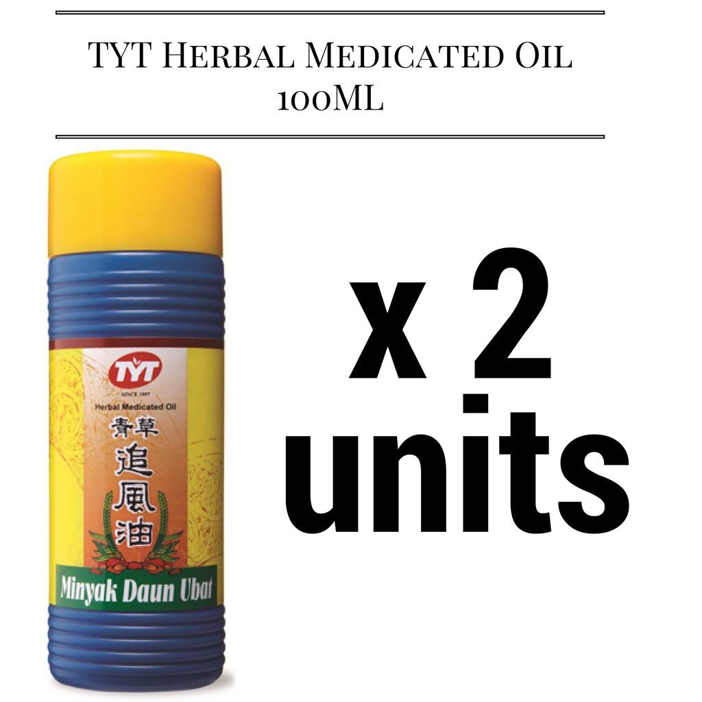 Tyt Herbal Medicated Oil 100ml Minyak Daun Ubat Shopee Malaysia