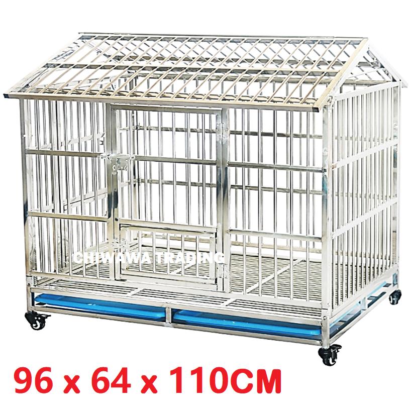 CGF1 CGR1 Stainless Steel Pet Dog Cat Rabbit Cage Crate House Home / Rumah Haiwan Anjing Kucing Sangkar