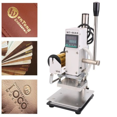 Hot Foil Stamping Machine Digital Embossing PVC Leather Bronzing ...