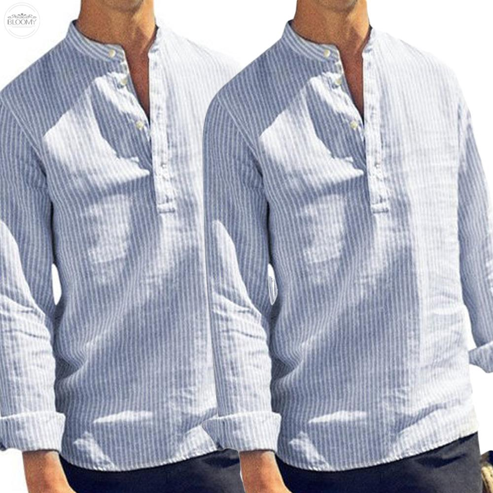 Men/'s T Shirt Formal Summer Shirts V Neck Stand Collar Solid Holiday Tops Blouse