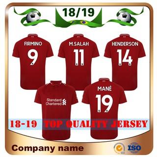 innovative design 01988 fe9eb 18/19 Liverpool Home Red Sccer Jersey #11 M.SALAH #9 FIRMINO Football Shirt