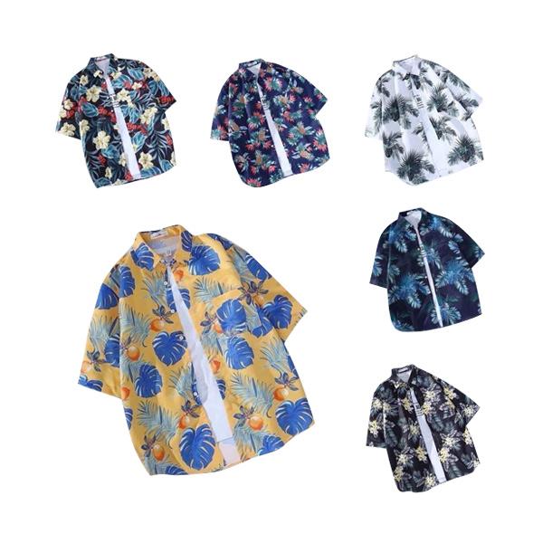 เสื้อฮาวายแฟชั่น พิมพ์ลาย รุ่น 8956-8959 สำหรับผู้ชาย