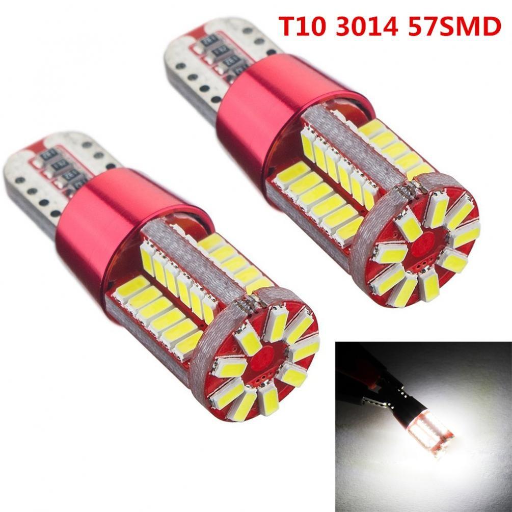 2pcs 5.7W W5W T15 T10 Light 57SMD 12V No Error Car