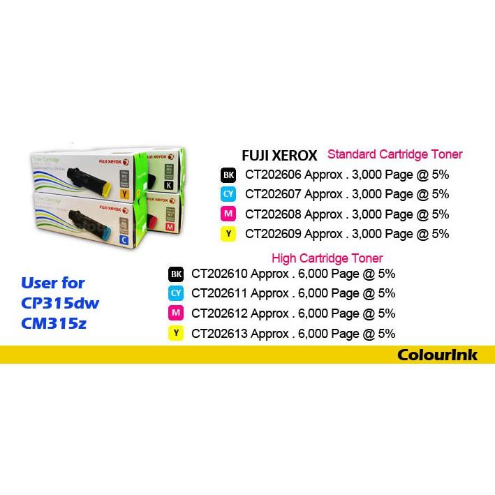 Fuji Xerox CT202606 Original Black Cartridge CP315dw/CM315z | Shopee