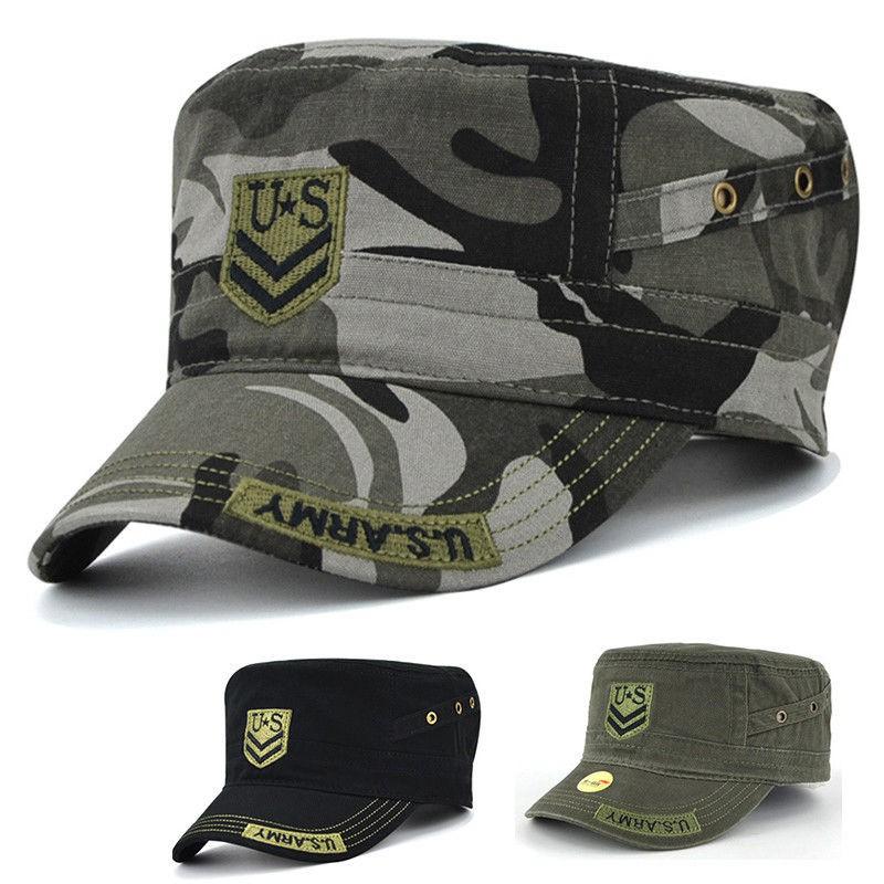 c53214eef5759 Men Women Military Hat Army Cadet Patrol Castro Cap Driving Summer Baseball  Hats