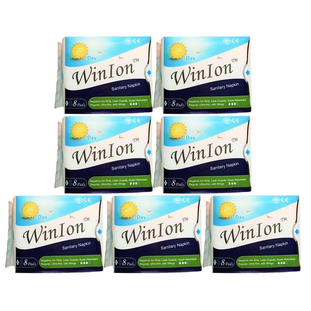 [Genuine] Winalite Winion DAY Use Sanitary Napkin With Anion Stripe 7 Packs (56 Pieces) Exp 2022 月月爱
