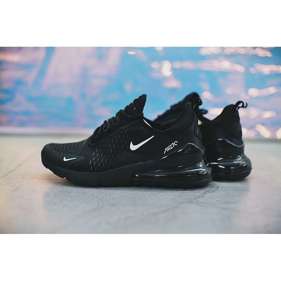 Nike Air Max 270 Shoes Men Airmax 27C Running Sneaker Flyknit Cushion Full Black