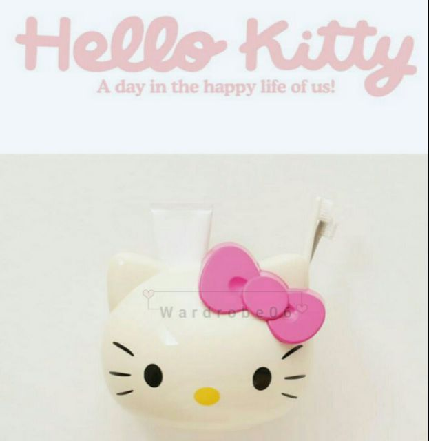 💕💯🆕👍Kitty Hello Cute bathroom storage barrel~kitty red