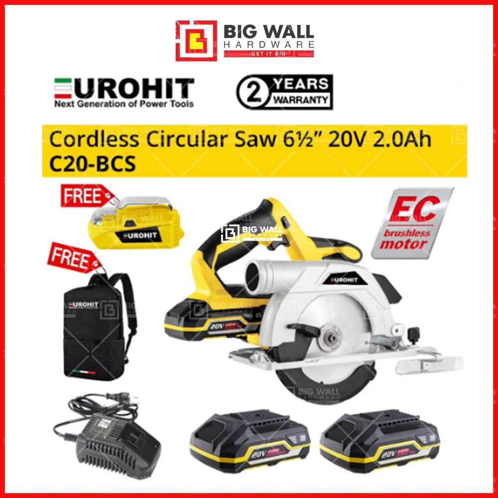 Eurohit 20V Brushless Circular Saw C20-BCS Big Wall Hardware