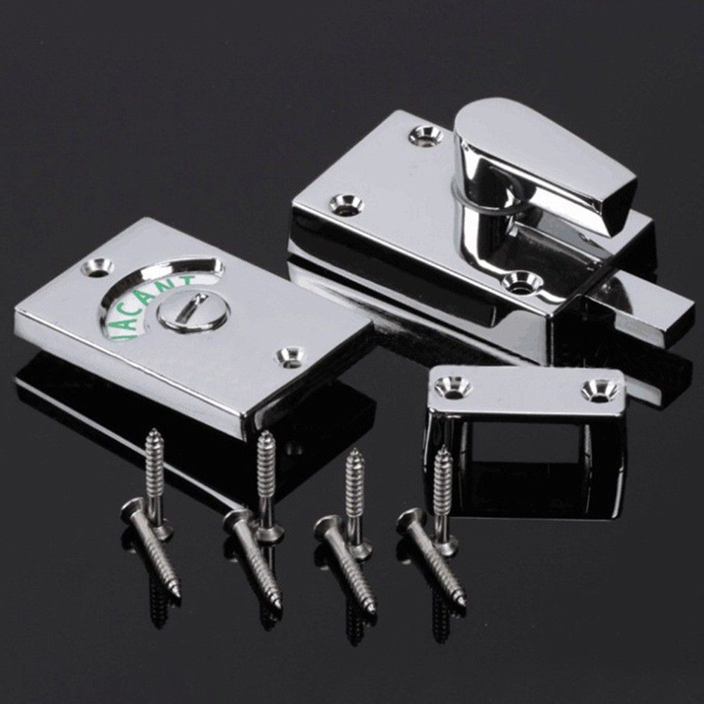 Engaged Wc Latch Vacant Indicator Bolt Toilet Privacy Bathroom Door Lock Shopee Malaysia