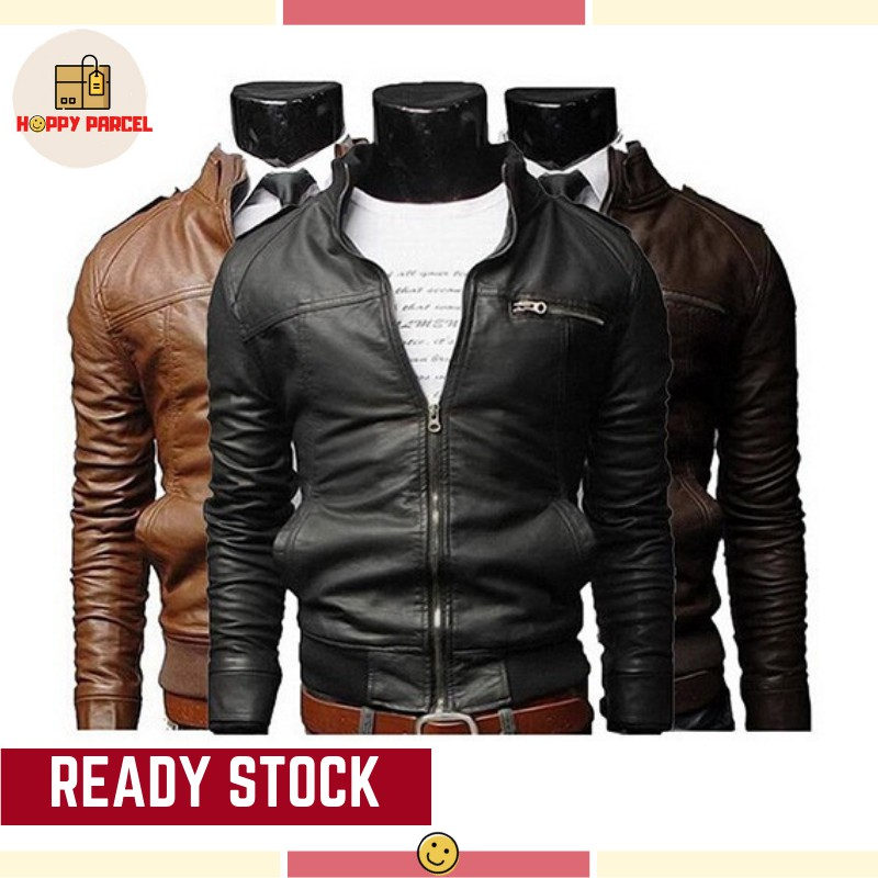 b48a3f945 [Fast Delivery!] Men's Fashion Winter PU Leather Jacket Coat