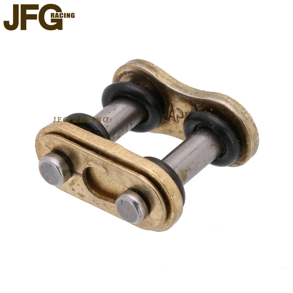 Motorcycle Gold 428 HV O Ring Chain Split Link Gold For DID Chain