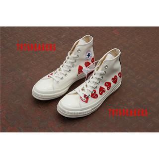 Original CDG Play X Converse Chuck Taylor Hi High Top Sneakers Shoes J9