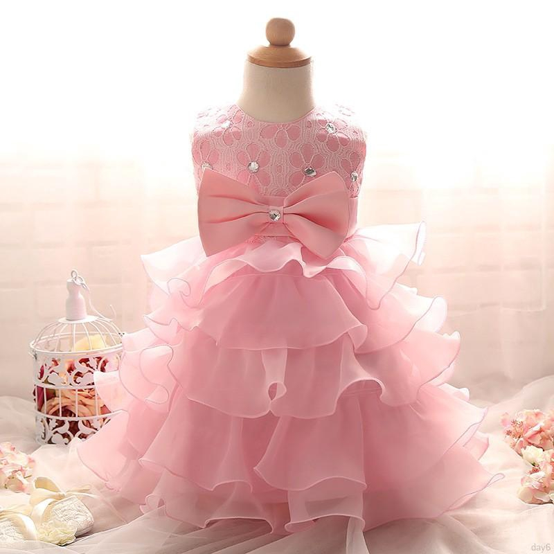 94f7e1be0766 Kids Summer Girl Ruffles Lace Dress Princess Baby Party Dresses ...