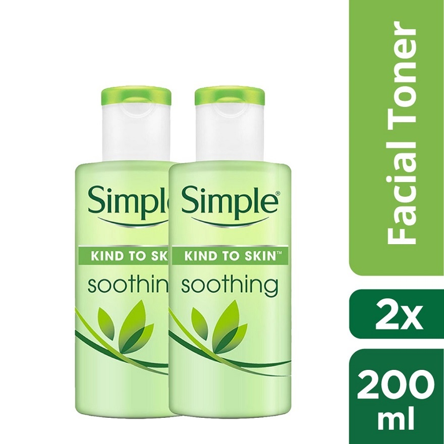 Simple Soothing Toner 200ml Twin Pack (240722)
