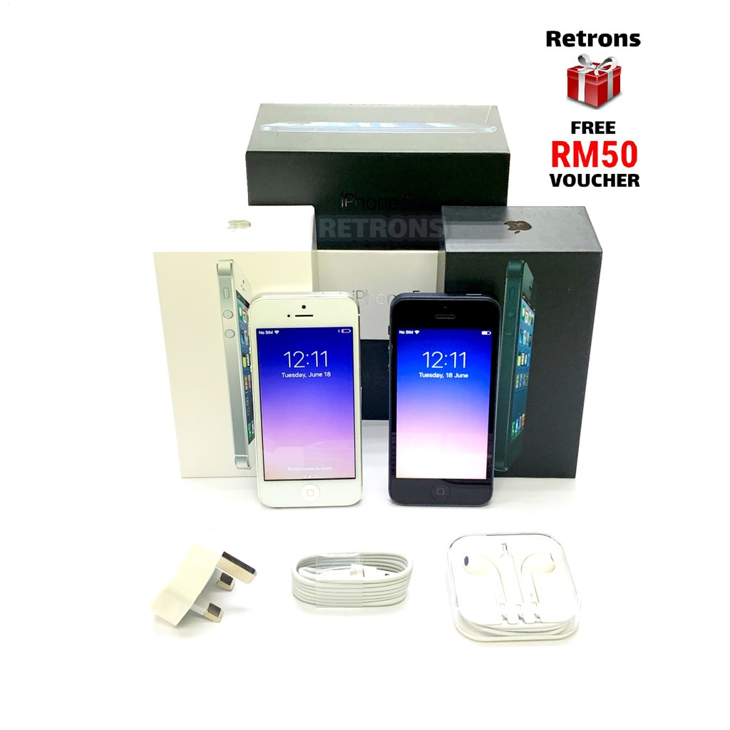🇲🇾 Seller Original Used Apple IPhone 5 64GB 98% Like New Used Phone With 1 Month Warranty