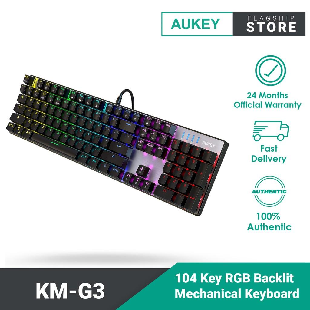 Aukey Key RGB Backlit Mechanical Keyboard KM-G3 104