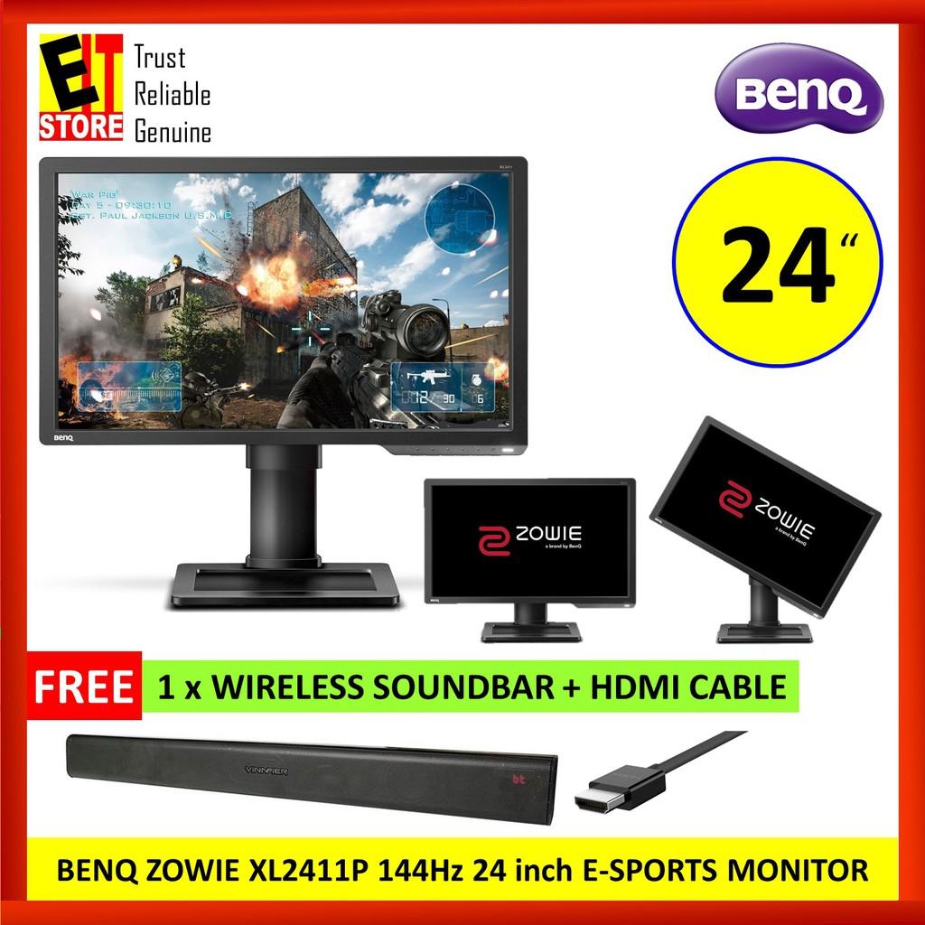BENQ ZOWIE XL2411P 1920 x 1080 144Hz 24 inch E-SPORTS MONITOR + FREEGIFT