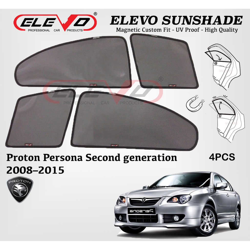 Proton Persona OLD ELEVO Magnetic Custom Fit Sunshade 4pcs