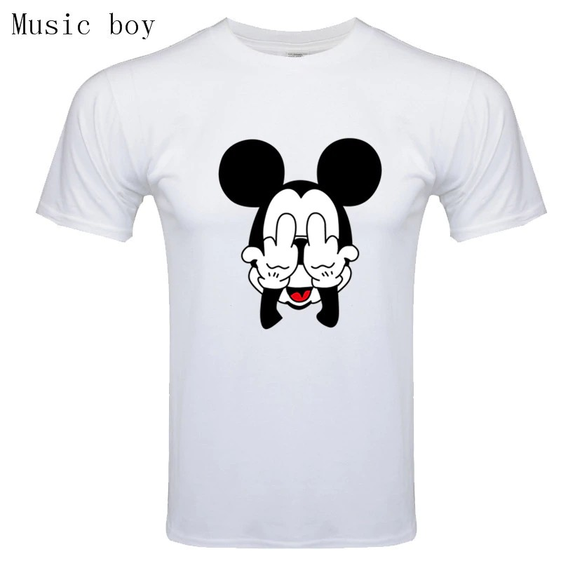 Men Summer Tops Cartoon Tshirt Homme Mickey Dog Print Tees Mouse T Shirt Men Top Shopee Malaysia