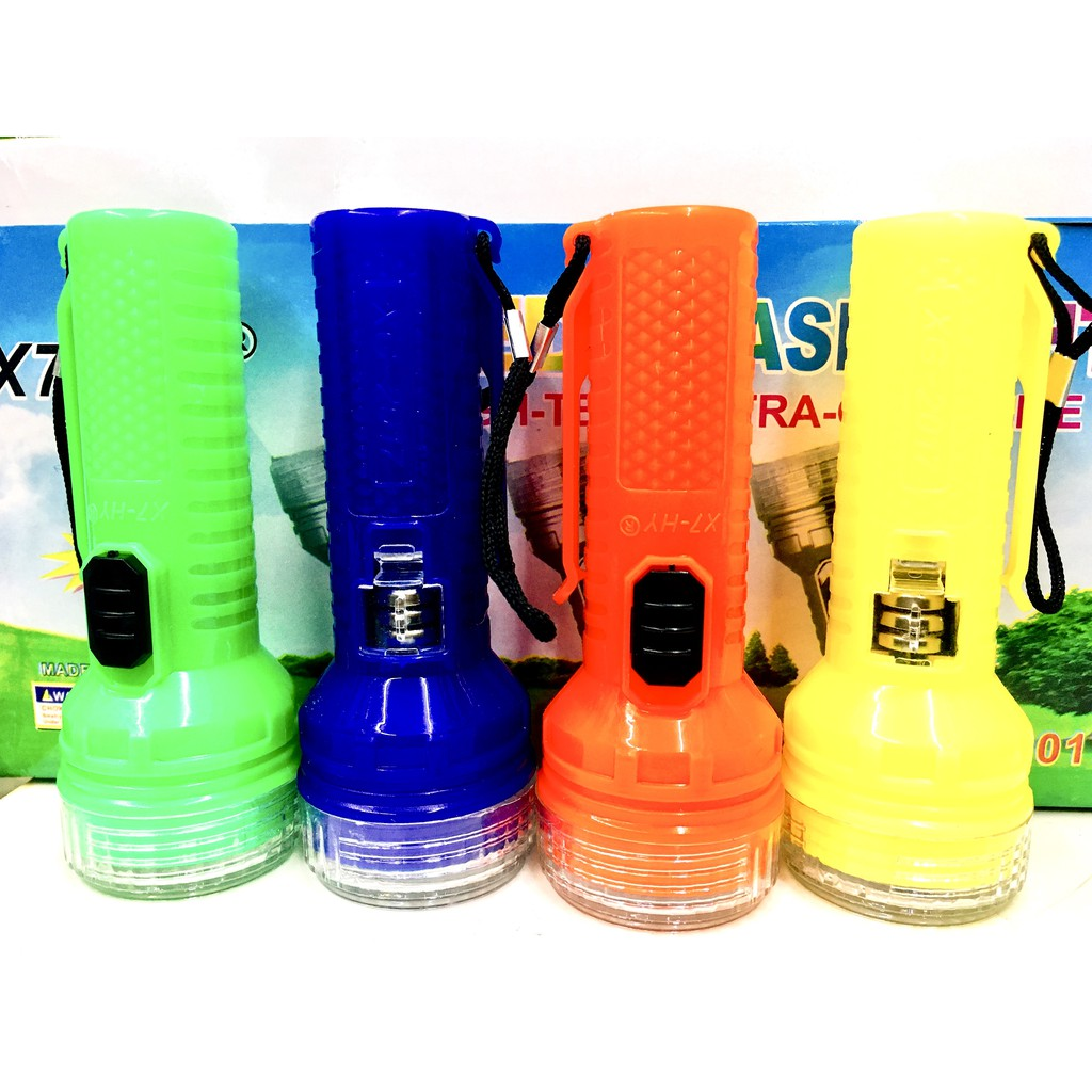 Mini LED Torch Flashlight Colorful Torch Light X7-HY