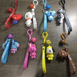 Kpop Bts Bt21 Cute Car Keychain Cute Acrylic Keyring Key Holder Bag