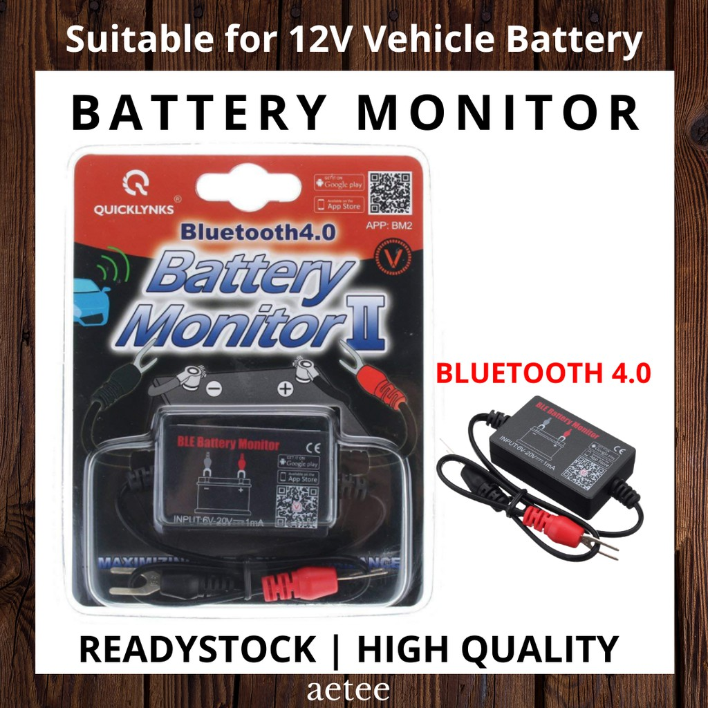 Vehicle Battery Monitor Testor Bluetooth 4.0 | Compatible with all 12V Vehicle Battery [aetee]