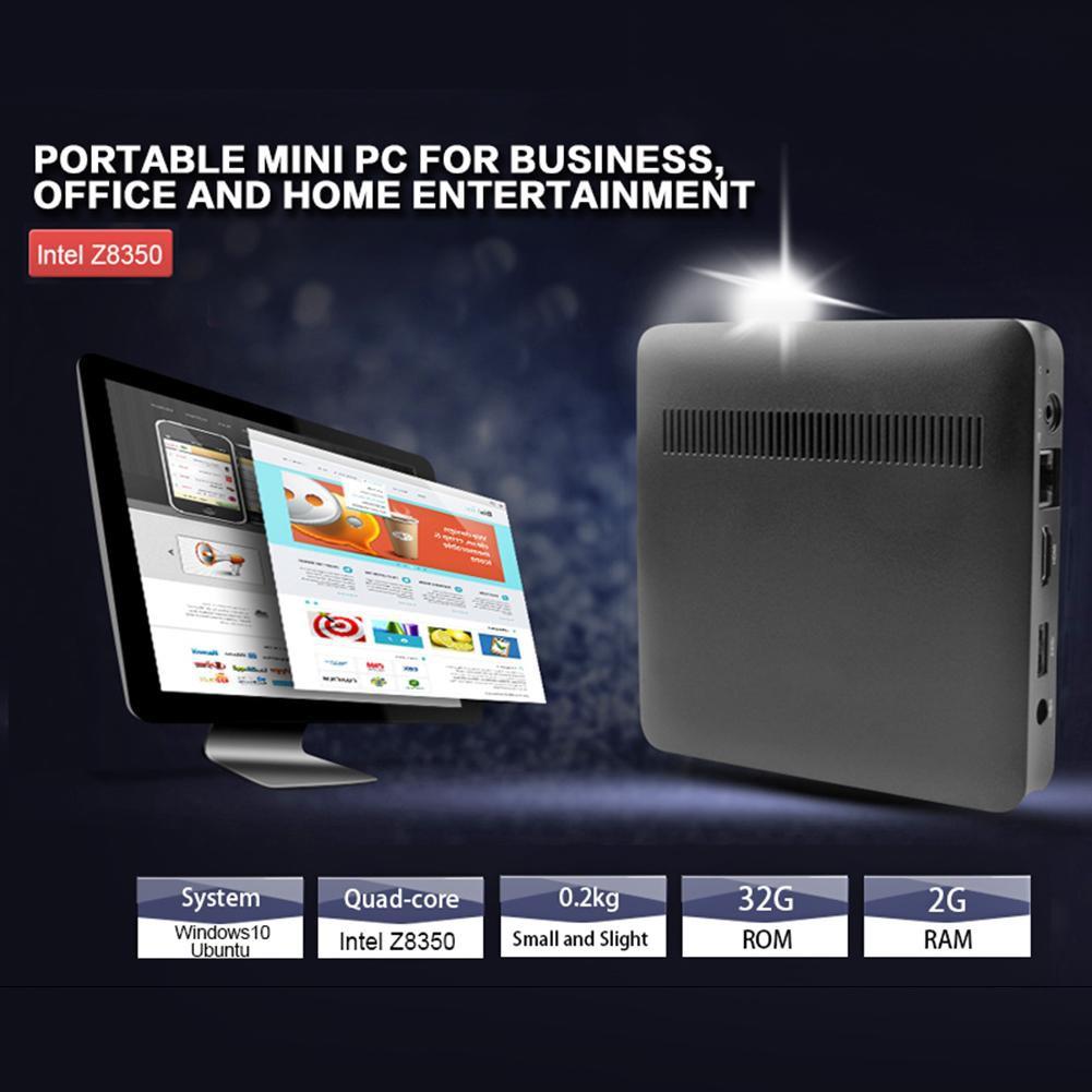 T7 Mini PC Desktop Quad Core 2GB+32GB Bluetooth Window 10 HDMI Computer US