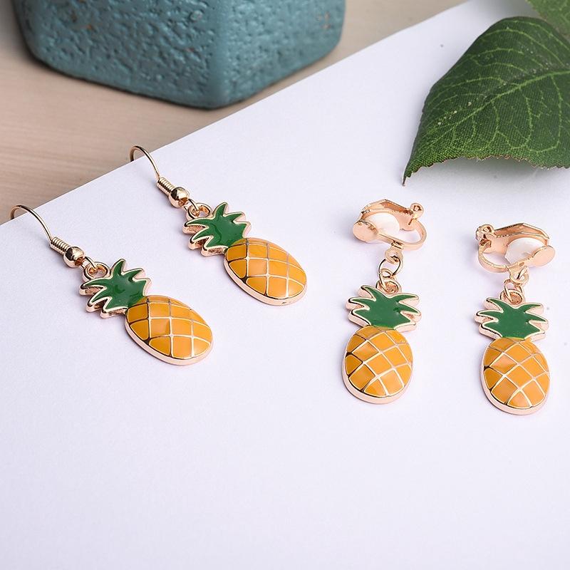 73bb00cb1257c Summer fresh and lovely pineapple long earrings
