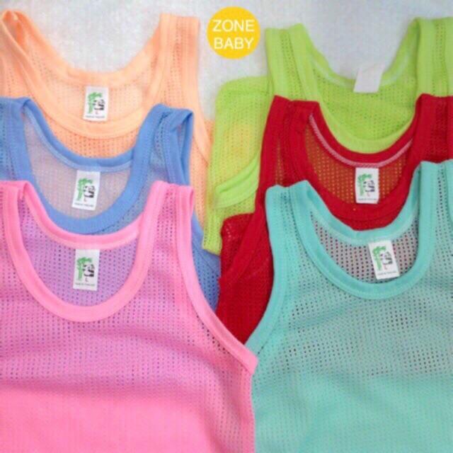 เสื้อกล้ามรู ❗️ตัวละ 19 บาท❗️6 ตัว 100 ❗️กล้ามรูเด็กอ่อน คละสี เสื้อกล้ามเด็ก กล้ามรูเด็ก เสื้อกล้ามเด็