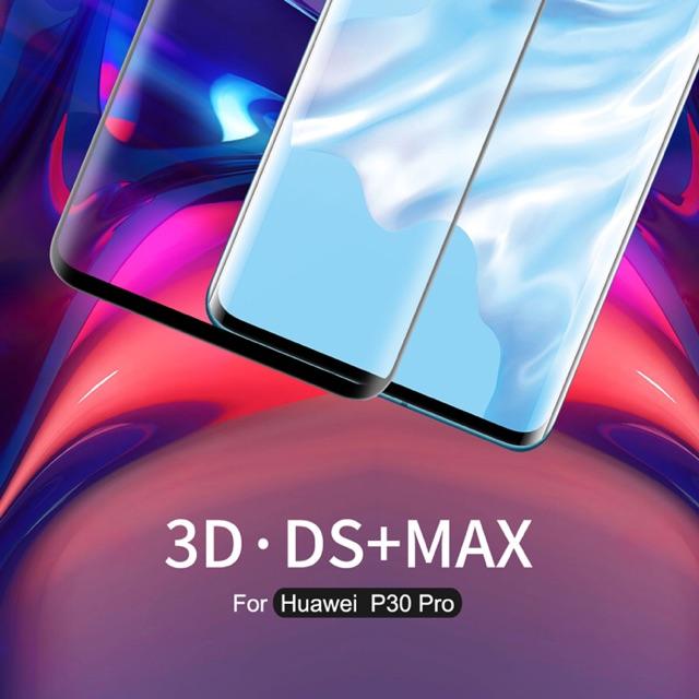 Nillkin ฟิล์มกระจกนิรภัย Huawei P30 Pro รุ่น 3D DS+ MAX Fullscreen Tempered Glass Full Glue กาวสุญญากาศ