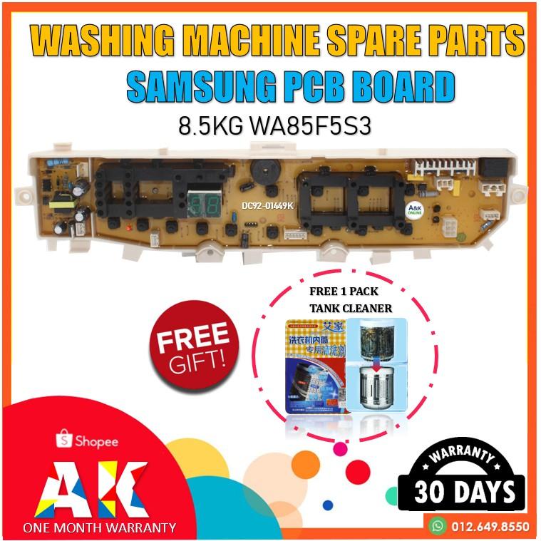 8 5KG Pcb Board Samsung WA85F5S3 CODE : DC92-01449K, DC92-01479K