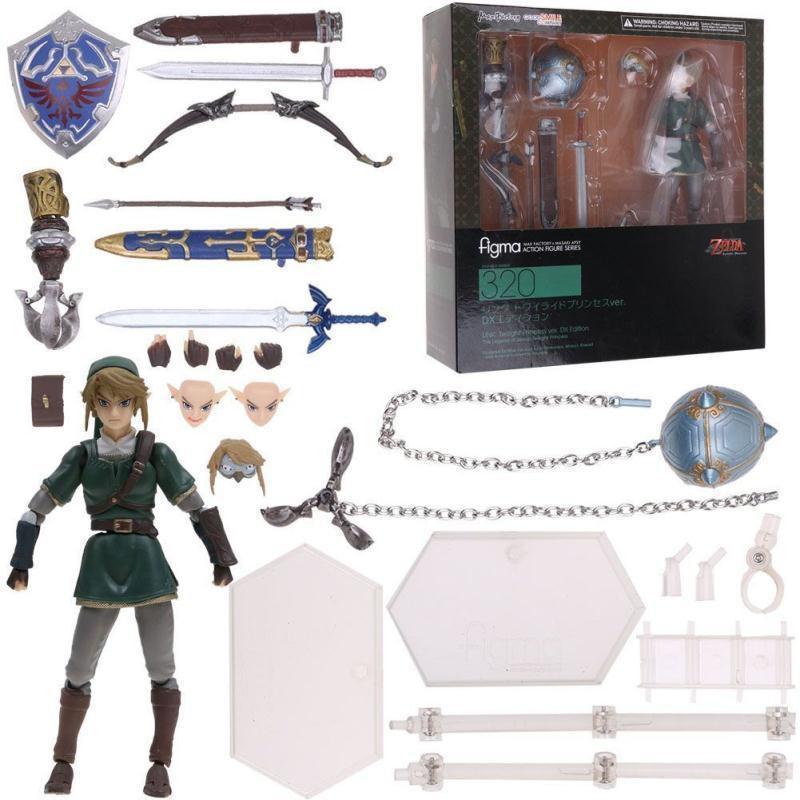 Anime Figma 319 The Legend of Zelda LINK Twilight Princess Action Figure No Box