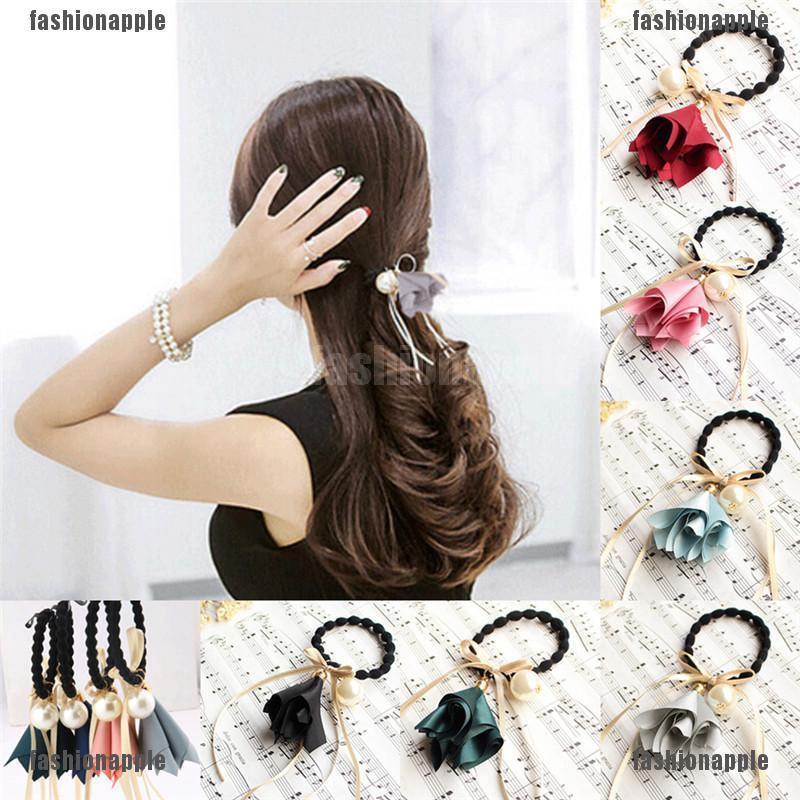 100X Black Hair Band Rubber Seamless Hair Ring Hair Rope Hair Accessories 32