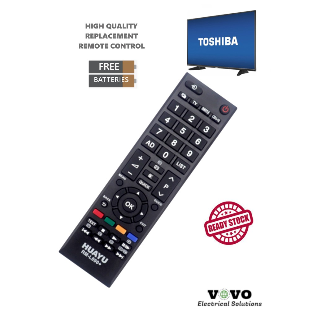 TOSHIBA LCD LED TV Replacement Remote Control