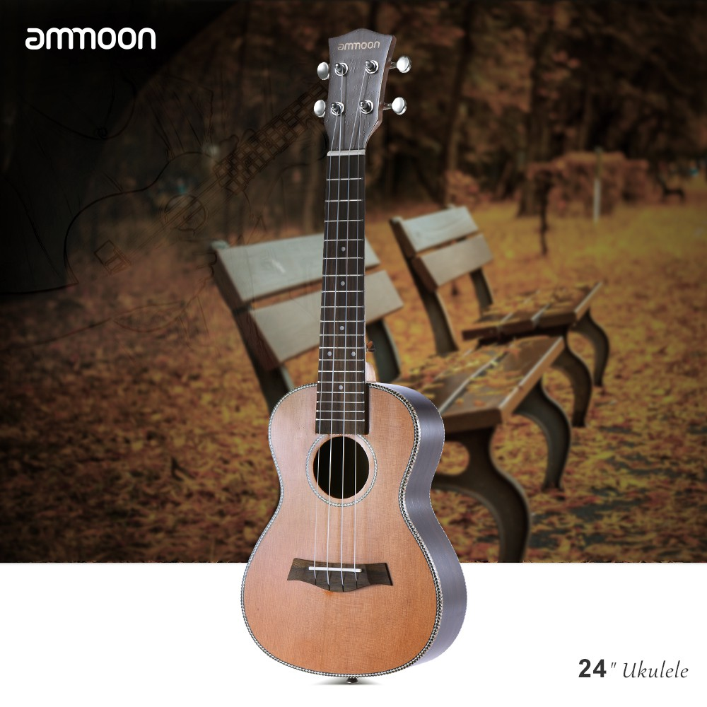 Sports & Entertainment Stringed Instruments Ammoon Colorized 24 Acoustic Ukulele Soprano Ukelele Wooden 18 Frets 4 Strings Okoume Neck Rosewood Fingerboard