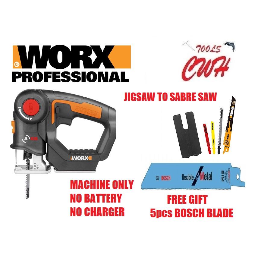 WX550 20V WORX MULTI PURPOSE SABRE RECIPROCATING RECIPRO SAW JIGSAW JIG SAW WX 550