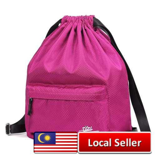 Water Proof Drawstring Bag Suitable Beach Going Swimming and Others (Rose Red)