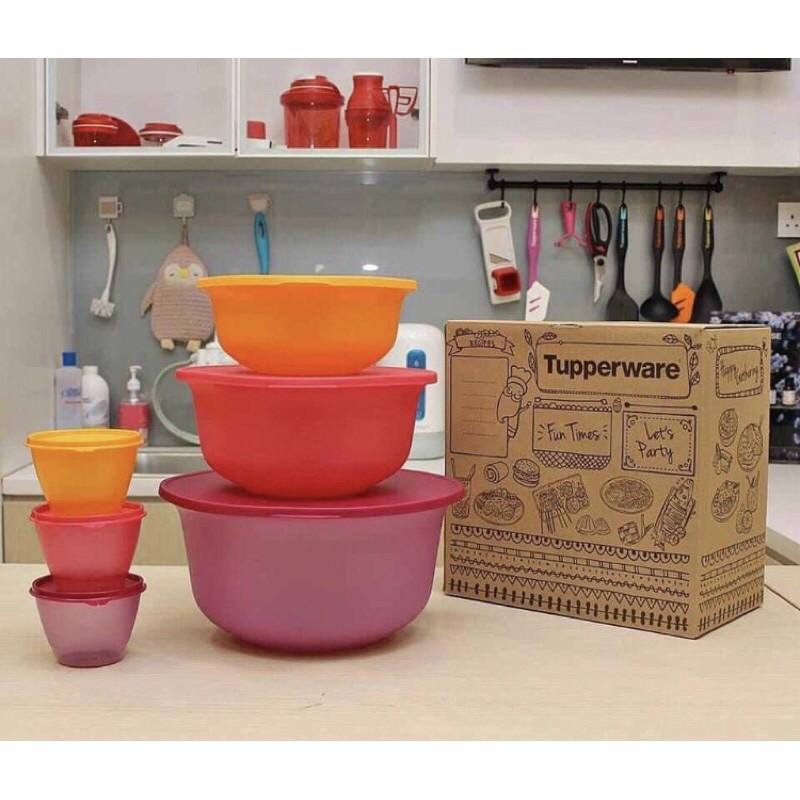Tupperware Thats A Bowl/ Aloha Bowl Set/ Roza Bowl with Ladle 2.2L / Cherrio Quad set 1L