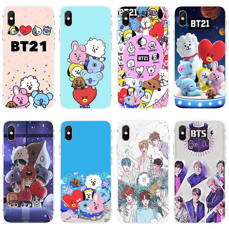best service 1589d 057e2 Cartoon BTS Bangtan Boys BT21 Phone Case Cover for IPhone SAMSUNG XIAOMI  HUAWEI