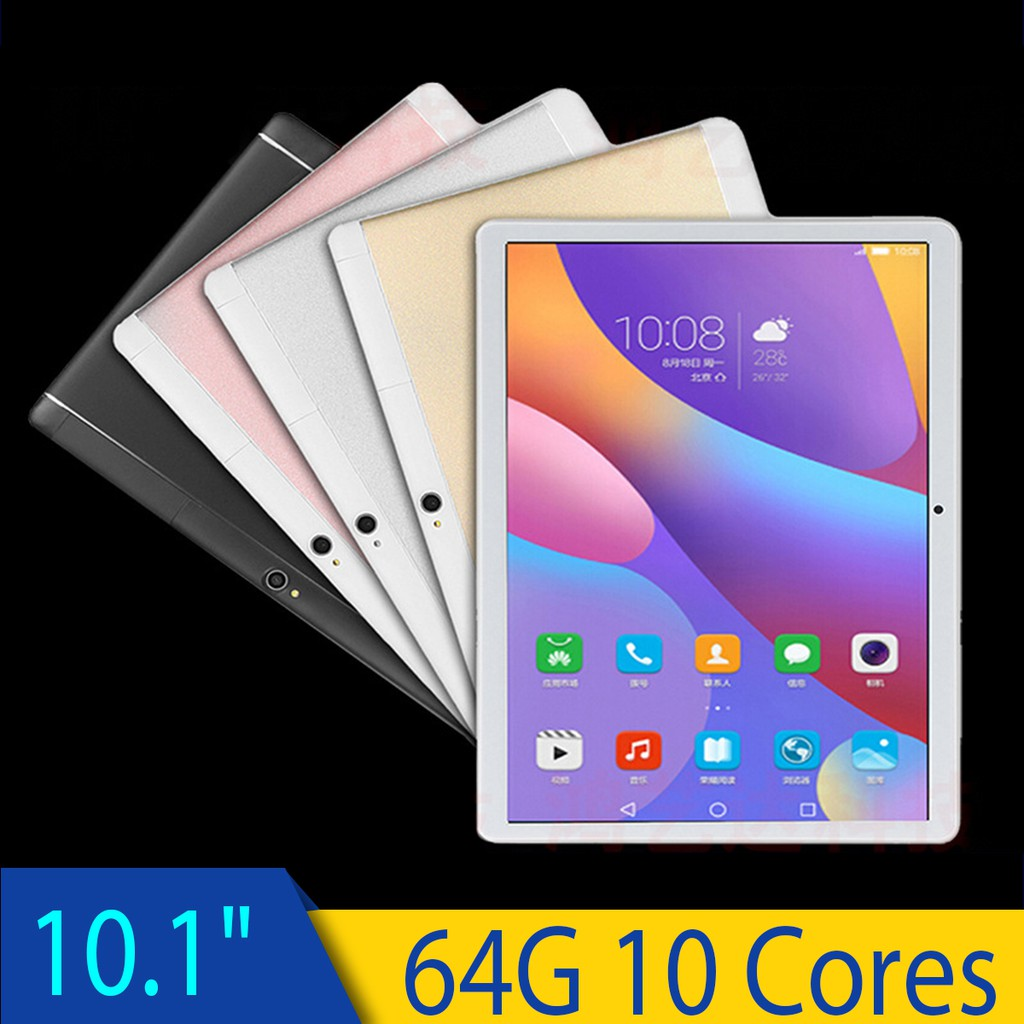 【New Version】10 1'' 4G+64GB Android 8 0 Tablet PC Octa 10 Core HD WIFI 2  SIM 4G
