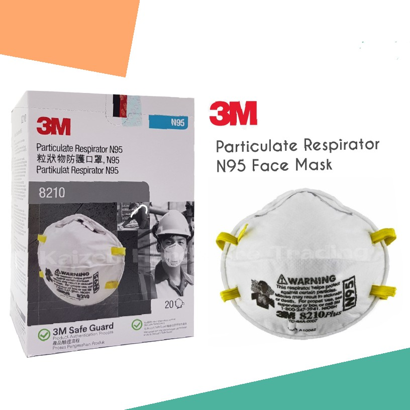 Respirator Mask original Face 8210 3m Particulate 20pcs N95 Box