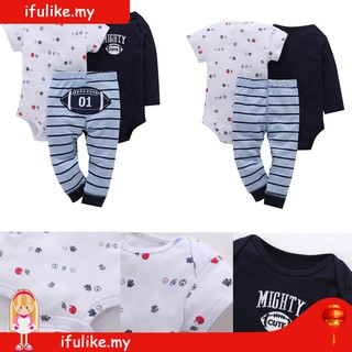 6476aa7cdf30 🔥Hot Sale🔥3pcs Baby Girl Boy Floral Print Romper Stripe Pants Set
