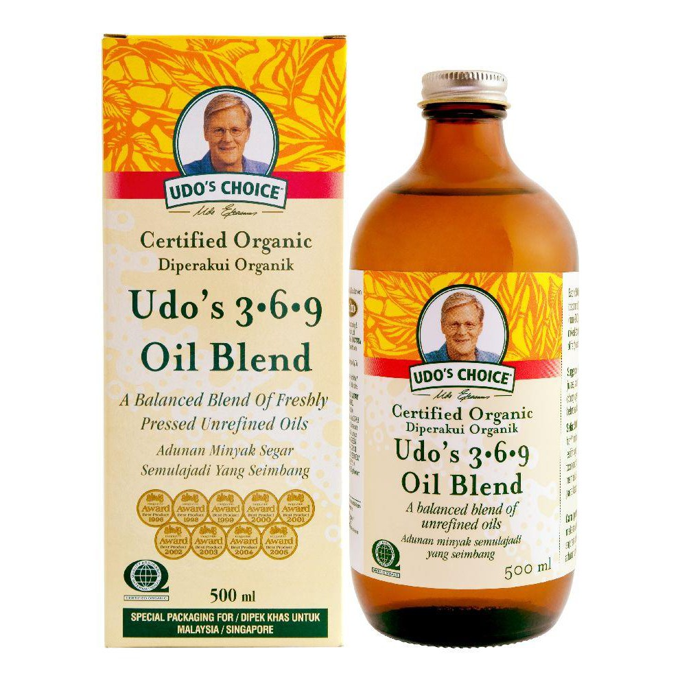 Udo's Choice Ultimate Oil Blend Omega 3-6-9 (500ml) [Udo Oil Imported from Canada]