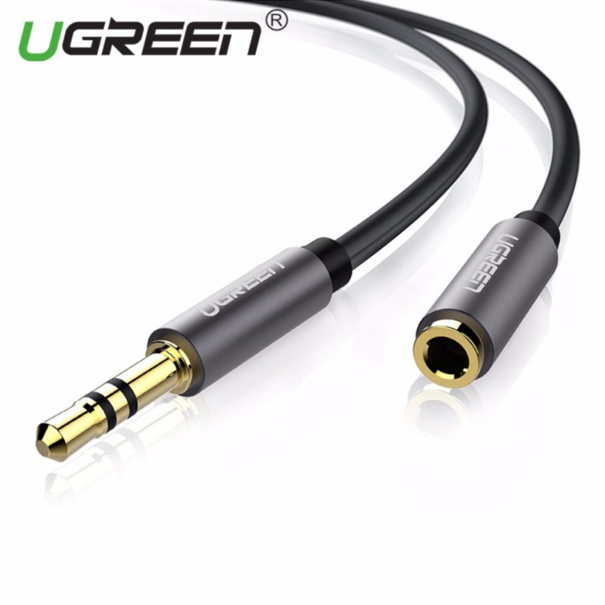 Gold 3.5mm Male to Female Cord Stereo Jack Headphone Aux Audio Extension Cable